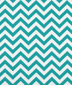 Premier Prints Zig Zag True Turquoise Fabric. #sewing #diy #chevron $7.40 per yard