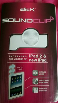 slicK SoundClip Brand New! For iPad2 & The New iPad #slicK