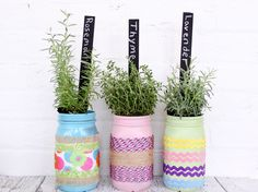 Make Your Own Decorated Mason Jar Planters