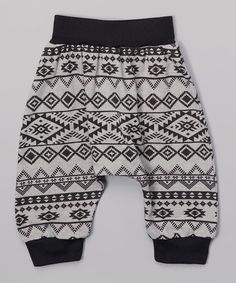 Look what I found on #zulily! Gray Aztec Harem Pants - Infant, Toddler & Girls #zulilyfinds