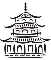 Chinese Pagoda 190 micron Mylar Stencil durable & sturdy- - - ***NEW** Chinese Pagoda, Chinese Party, Chinese Crafts, Chinoiserie Chic, Chinoiserie Fabric, Willow Pattern, Stock Art, Japanese Art, Japanese Castle