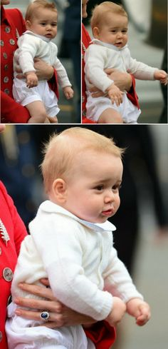 Lil' George's irresistible cheeks ♥ seriously the most adorable little boy ever