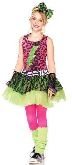 Totally 80's Girls Costume - Eighties Costumes