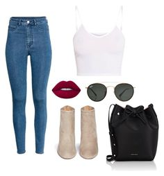 """""""Untitled #392"""" by camibg on Polyvore featuring Aquazzura, H&M, Ray-Ban, Lime Crime and Mansur Gavriel"""