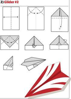 Aprenda como fazer 12 modelos diferentes de avião de papel