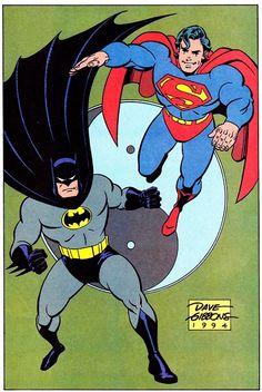 BATMAN & SUPERMAN Pin-Up - Dave Gibbons & Rick Taylor