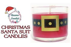Candle Wax, Soy Wax Candles, Santa Suits, Shot Glass, Jar, Tableware, Christmas, Xmas, Dinnerware