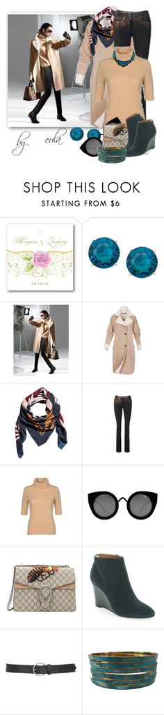 """Selfie"" by eula-eldridge-tolliver ❤ liked on Polyvore featuring Anne Klein, H&M, Quay, Gucci, Calvin Klein, M&Co, Alexis Bittar, my and fall2015"