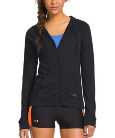 Look what I found on #zulily! Black Charged Cotton® Undeniable Full-Zip Jacket by Under Armour® #zulilyfinds