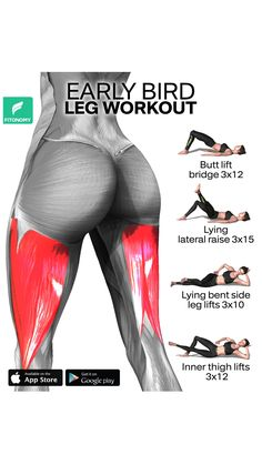 Full Body Gym Workout, Gym Workout Videos, Gym Workout For Beginners, Fitness Workout For Women, Hip Workout, At Home Workouts, Thigh Exercises, Glutes, Thighs