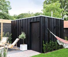 Backyard Storage Sheds, Diy Storage Shed, Backyard Sheds, Backyard Landscaping, Shed Design, Garden Design, Bike Shed, Patio, Garden Office