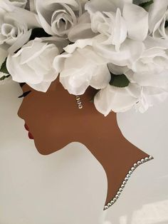 Steel Diva Silhouette Floral /Black Girl Magic/Afro Wreath - The Effective Pictures We Offer You About Beauty videos A quality picture can tell you many things - Mesh Wreaths, Holiday Wreaths, Military Wreath, African Crafts, African Art, Wedding Bottles, Divas, Afro Art, Creative Gifts