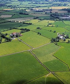 """""""Co Fermanagh, Ireland Aerial View Of Fields"""" - photography by The Irish Image Collection on fineartamerica.com"""