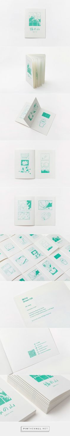 Self-Publishing Zine-Green Hill /自出版Zine《绿の山》 on Behance - created via https://pinthemall.net