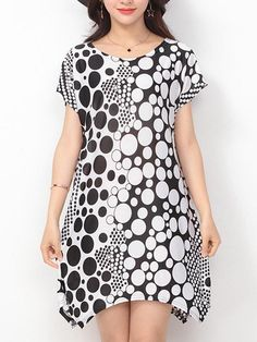 ZHI Women Printed Short Sleeve Irregular Hem Mini Dresses is high-quality, see other cheap summer dresses on NewChic. Cheap Summer Dresses, Mini Dresses, Shift Dresses, Maternity Tops, Maternity Fashion, Clothes For Pregnant Women, Clothes For Women, Fashion 101, Fashion Ideas