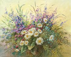 Vasaros gėlės  50x40 cm.drobė, akrilas