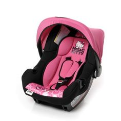 Hello Kitty Car Seat and Stroller Baby Doll Car Seat, Car Seat And Stroller, Baby Car Seats, Hello Kitty Car, Hello Kitty Items, Cute Babies, Baby Kids, Daddys Little Monster, Baby Bling