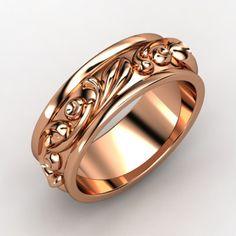 14K Rose Gold Ring - Cornice Band | Gemvara