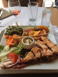 Salmon quiche at my favourite bistro in Bordeaux, France :)