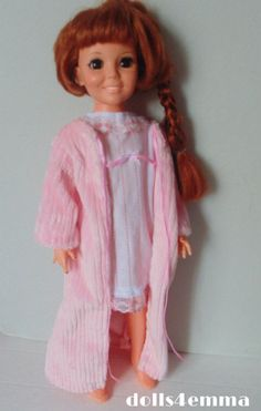 """""""SWEET DREAMS"""" - Robe and Nightgown for Ideal CRISSY dolls"""