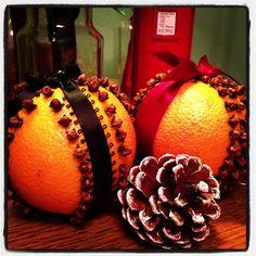 DIY orange and clove pomanders