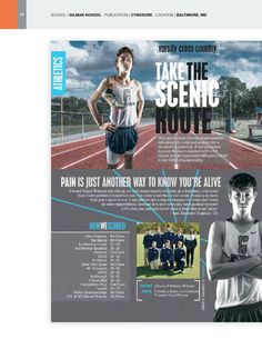 What I like: The picture and the words mix well together and the spread looks very well balanced and interesting to look at. Use this: for any sport spread.