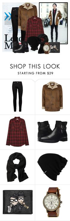 """""""Street style"""" by janie-xox ❤ liked on Polyvore featuring Topman, Yves Saint Laurent, Aquatalia by Marvin K., Banana Republic, Patagonia, Dolce&Gabbana, Timex, men's fashion and menswear"""