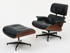 Modernist chair designed by Charles Eames (American, 1907-1978) and Ray Eames (American, 1912-1988). Ray helped women earn respect in the workforce by contributing to amazing designs like this.