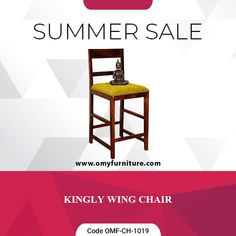 Product URL: KINGLY WING CHAIR  Product Code - OMF-CH-1019  Product URL: https://www.omyfurniture.com/kingly-wing-chair-omf-ch-1019  Kingly wing chair is a bar concept chair. It bar chair is made by sheesham (Rosewood) and upholstery seat with teak finish.It's use to give a comfortable seating experience.  Call Us: +91 9001470833, 7627045945  #furniture #cabinet #diningtable #bed #drawer #bookselves #chairs