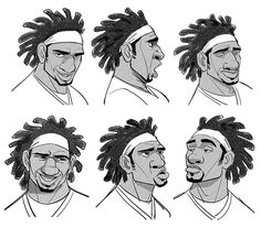 Since Damon Wayans Jr. was casted as Wasabi, I wanted to re-make the modelsheet trying to capture the actor's interesting and unique expressions.