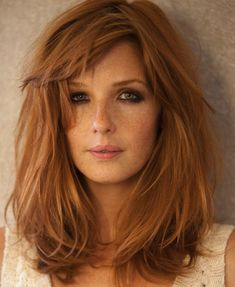 34 Ideas hair color dark copper strawberry blonde for 2019 Pretty Hairstyles, Bob Hairstyles, Long Haircuts, Modern Haircuts, Wedding Hairstyles, Haircut Long, Latest Hairstyles, Kelly Reilly, Corte Y Color