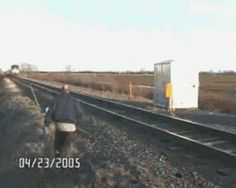When this guy didn't realize trains end. | 23 Brushes With Death That Will Make You Want To Stay Home For A While