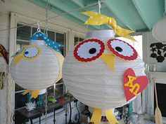 Owl lamp idea for Chi Omega Bid Day or Recruitment. This owl is absolutely adorable. Decorate the house with these and make them with your sisters as a fun little #DIY. #XO