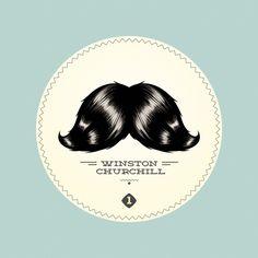 Winston Churchill mustache #Movember