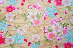 Sakura Cherry Blossom Japanese Fabric Cotton Floral by kawaiibeads, $7.80