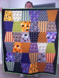 Quilting: Tumbler quilt quilt larg, quilt idea, quilt halloween, cloth quilt, tumbler quilt