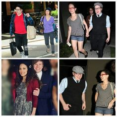 """Patrick and Elisa<<< the top right one though, his face is too cute! He's like """"oh my gosh, she holding my hand!"""""""