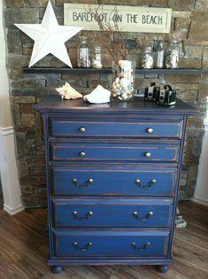 blue dresser via Shabby Chic Girl