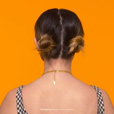 Have short hair? Try double buns