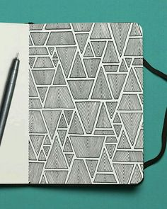 913 Likes, 34 Comments - Mario Martín Zen Doodle Patterns, Doodle Art Designs, Zentangle Patterns, Zentangles, Easy Doodle Art, Doodle Art Drawing, Mandala Drawing, Art Drawings Sketches Simple, Pencil Art Drawings