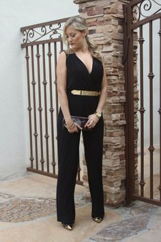 Charlotte Russe Outfit Inspiration | I wanted to play dress up with this amazing jumpsuit from Charlotte Russe. It reminds me of a vixen because a black jumpsuit with studded shoulders is very devilish, yet of course, stylish. - Chelsea