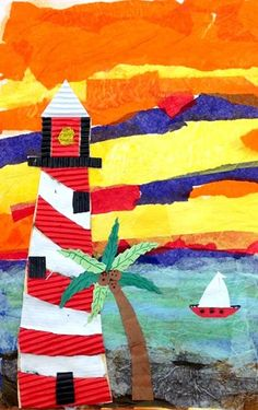 Artsonia Art Museum :: Artwork by Jack2573. Love the use of corrugated cardboard and tissue paper
