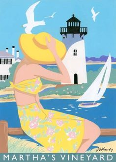 Idyllic image of a visit to Martha's Vineyard with its lighthouses, sailboats and beaches. Is it on your list of vacation destinations?