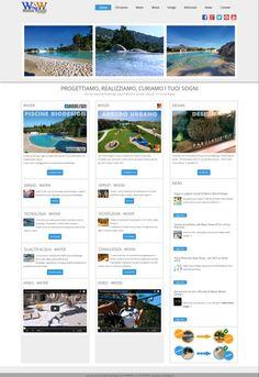 Water Wood Design homepage - Newweblab.net