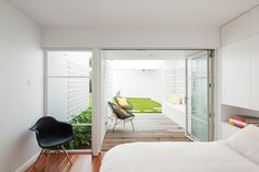 This redesign of a post-war brick house by Sydney-based Architect Prineas has cr… – Breeze Blocks Breeze Block Wall, Suburban House, Interior Design Images, Architect House, Patio, Modern Spaces, Modern Homes, Interior Architecture, Australian Architecture