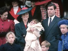 December 23, 1990   Princess Eugenie of York's christening   Princess Eugenie, the second child of the Duke and Duchess of York, was christened at Sandringham Church on December 23, 1990. The public service was broadcast through speakers outside. Here Eugenie's proud parents are pictured showing her off after the event alongside her cousins Zara Phillips (bottom left) and Prince Harry.