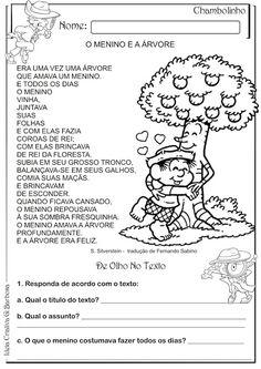 Unidade Escolar Walter de Carvalho Baptista/Educando Para a Vida!: O menino e a Árvore (Semana meio ambiente)