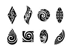 Set of Koru Maori Vector