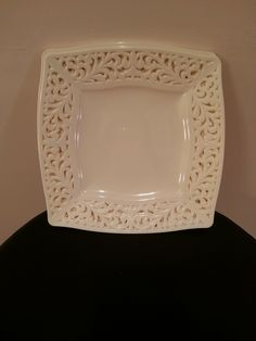 Item #8 - Plastic Ivory Plates for Guest Table Centerpieces (Hold Candles and Flower Arrangements) from Home Goods - 20 Pieces