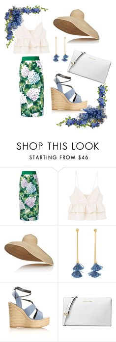 """Happy summer"" by gamosefashion ❤ liked on Polyvore featuring Dolce&Gabbana, MANGO, Lola, Ben-Amun, Yves Saint Laurent and Michael Kors"